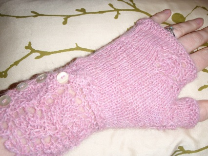 Veyla gloves on pretty cushion